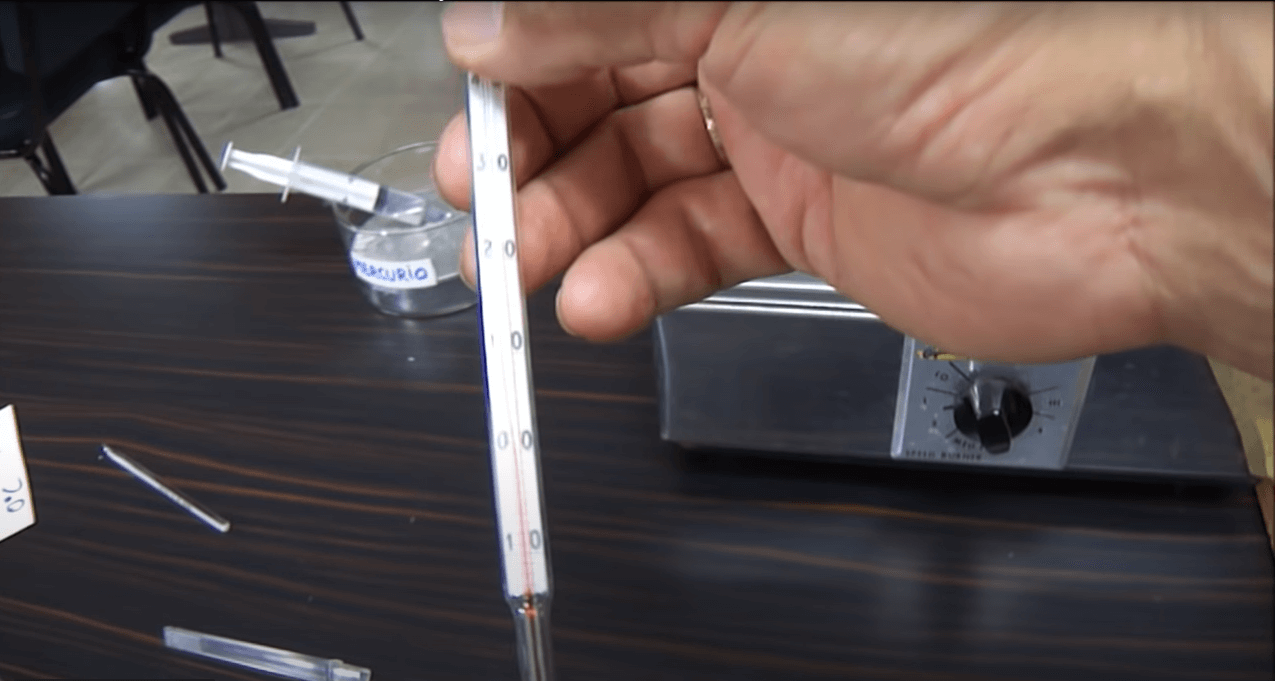 termómetros de mercurio